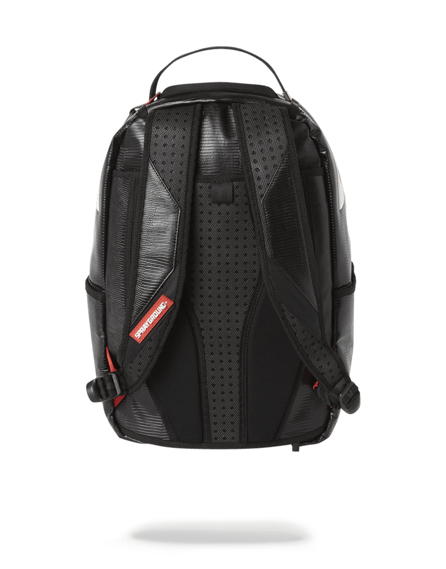 SPRAYGROUND- BLACK REPTILE SHARK BACKPACK (ONE OF ONE) BACKPACK