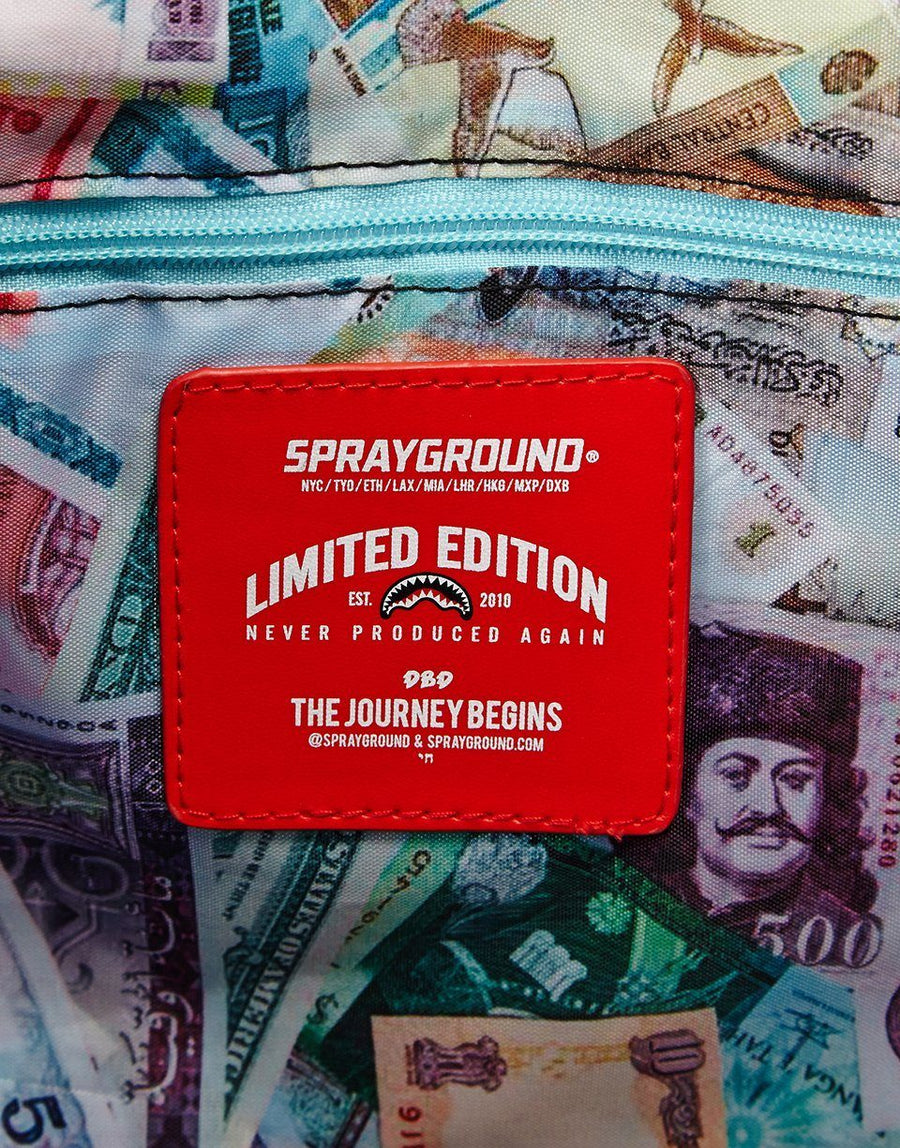 SPRAYGROUND- GLOBAL MONEY DUFFLE DUFFLE