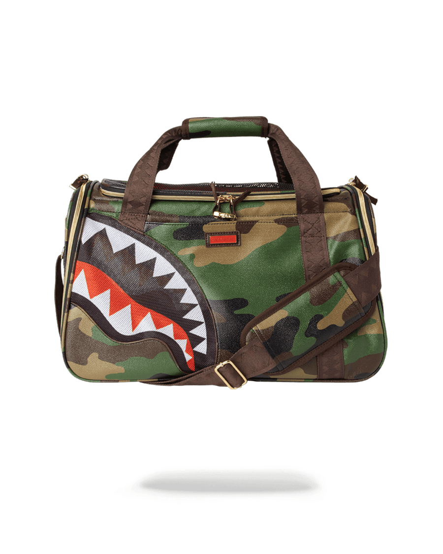 PET CARRIER: CAMO SHARK