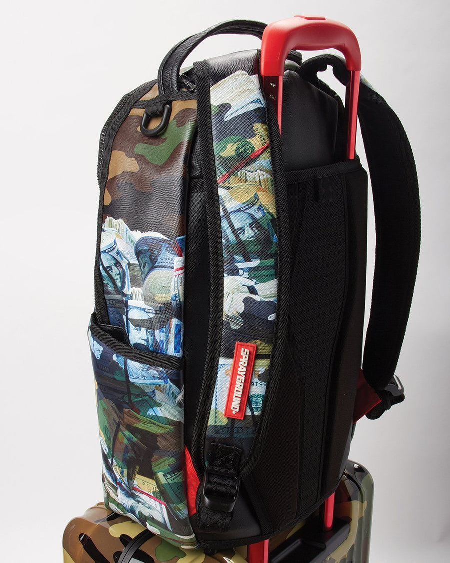 SPRAYGROUND- FULL-SIZE BLACK CARRY-ON CAMO LUGGAGE BUNDLE LUGGAGE