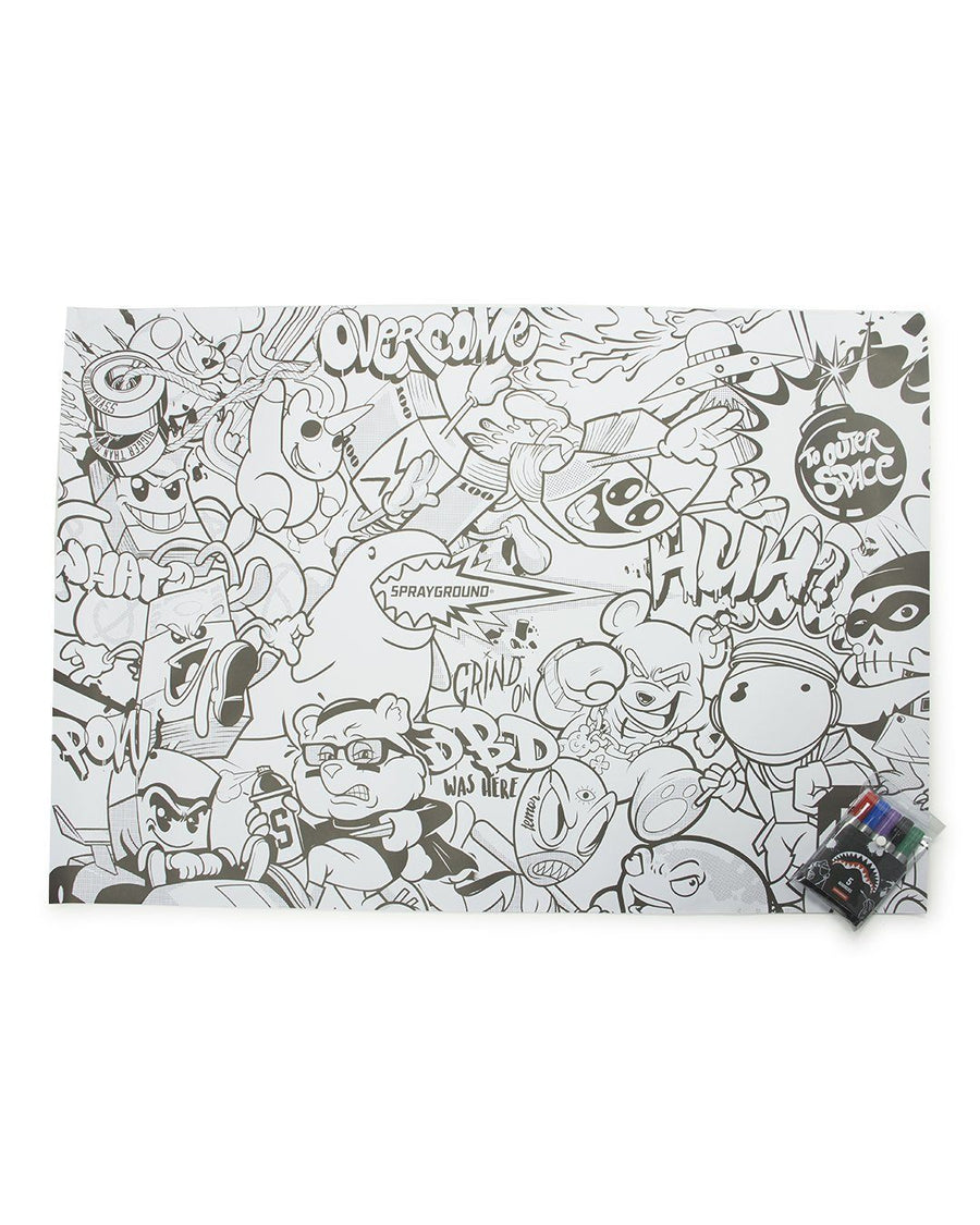 SPRAYGROUND HUGE COLORING POSTER 39