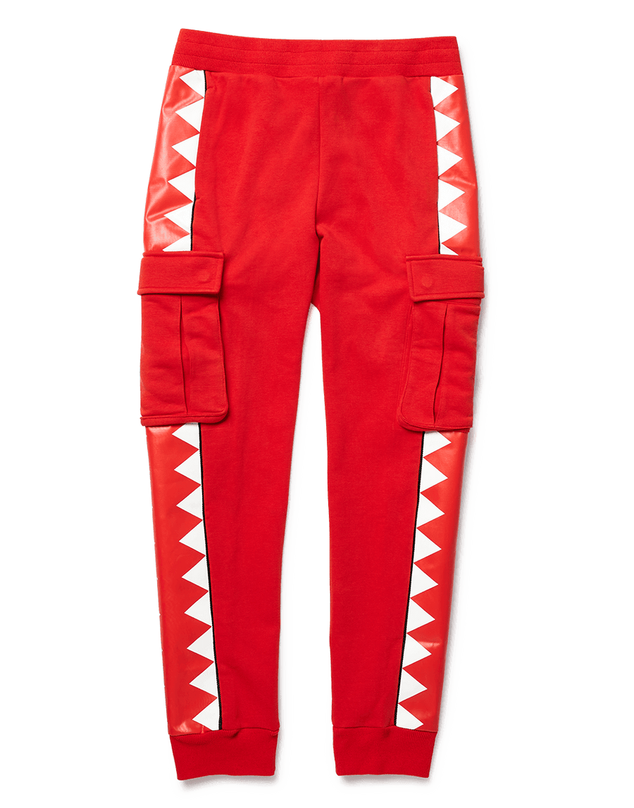SPRAYGROUND- SHARKTRACK CARGO JOGGER (RED) APPAREL