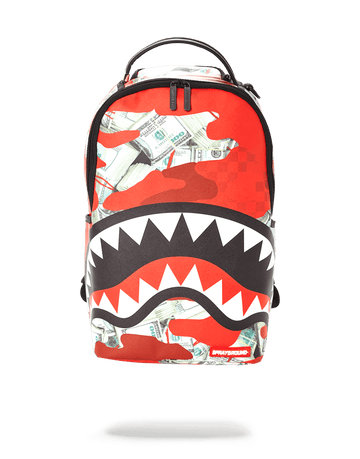 MONEY CAMO (RED) BACKPACK