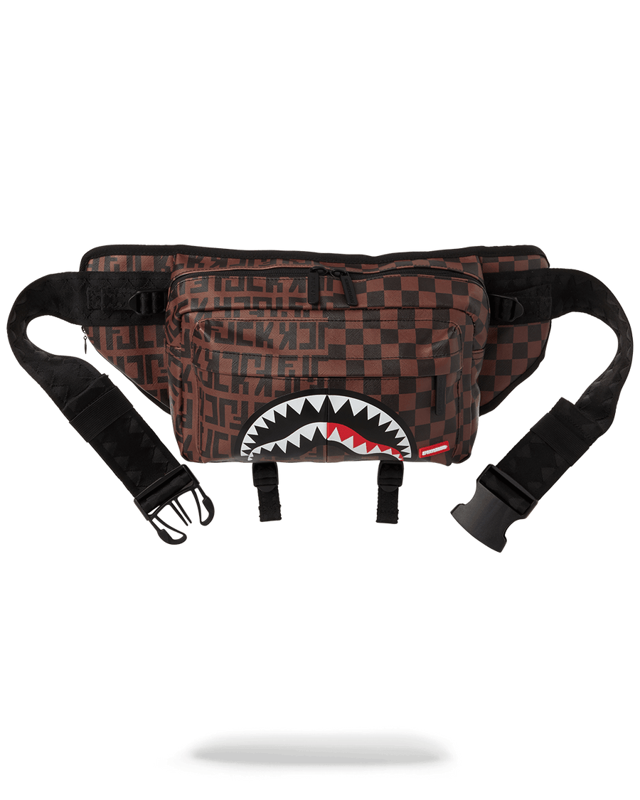 SPRAYGROUND- CARGO CROSSBODY: SPLIT THE CHECK CROSSBODY