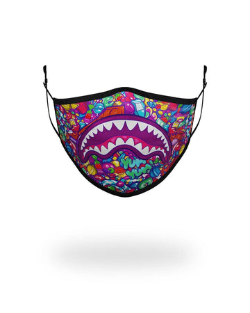 SPRAYGROUND- KIDS FORM FITTING MASK: CANDY SHARK FASHION MASK