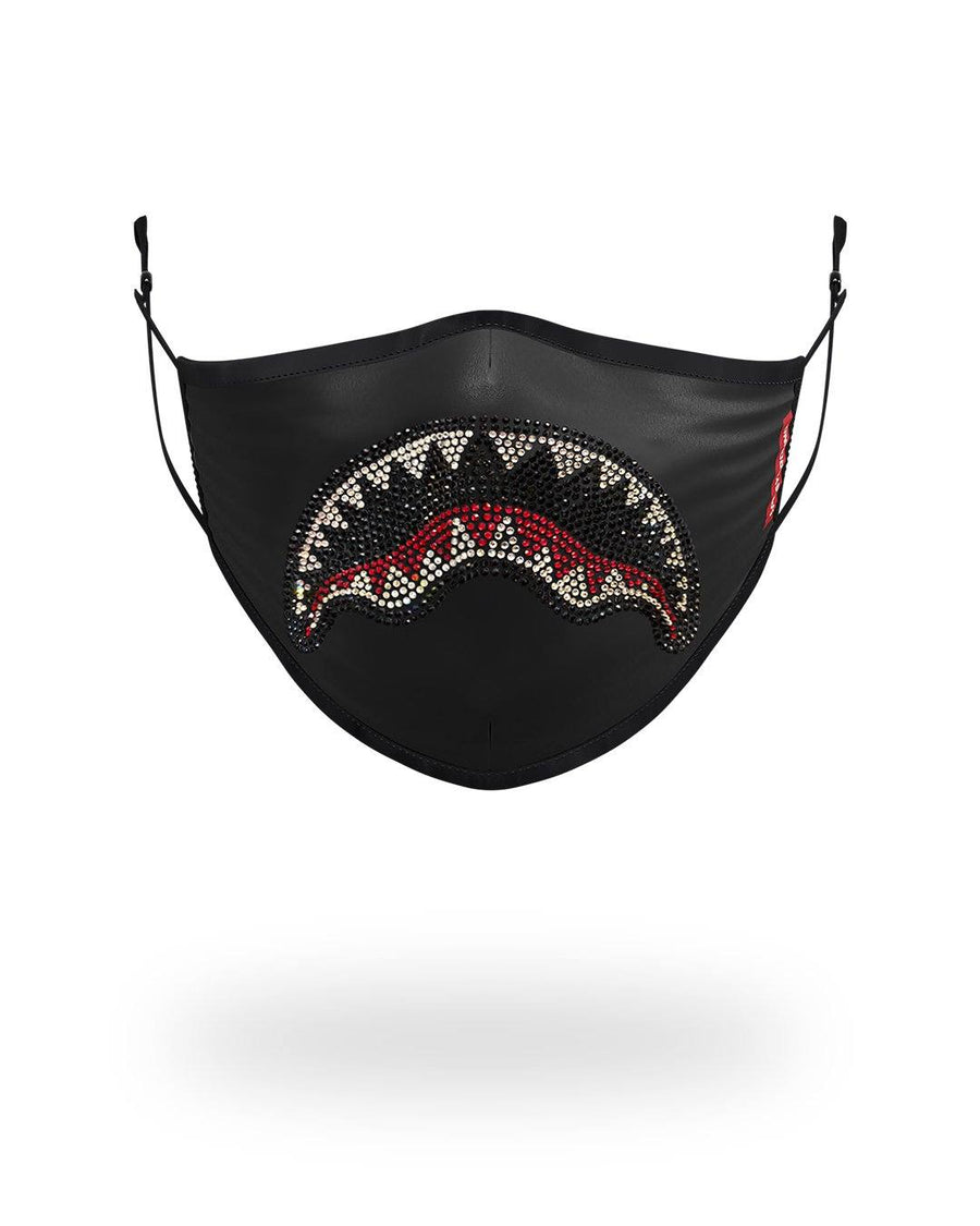 ADULT TRINITY SHARK FORM FITTING FACE MASK