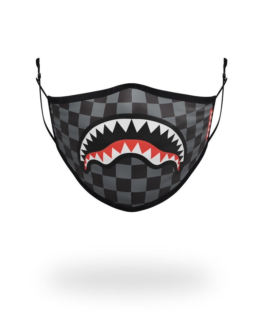 SPRAYGROUND- ADULT SHARKS IN PARIS (GREY) FORM FITTING FACE MASK FASHION MASK