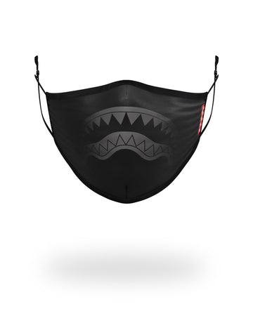 SPRAYGROUND- ADULT MIDNIGHT SHARK FORM FITTING FACE MASK FASHION MASK