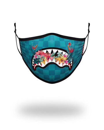 SPRAYGROUND- ADULT BLOSSOM SHARK FORM FITTING FACE MASK FASHION MASK