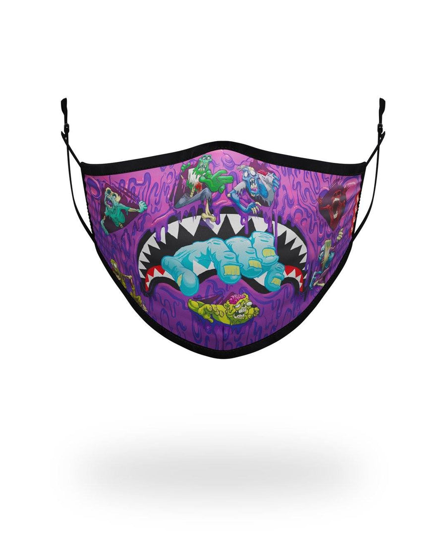 SPRAYGROUND- ADULT ZOMBIE SHARK FORM FITTING FACE MASK FASHION MASK