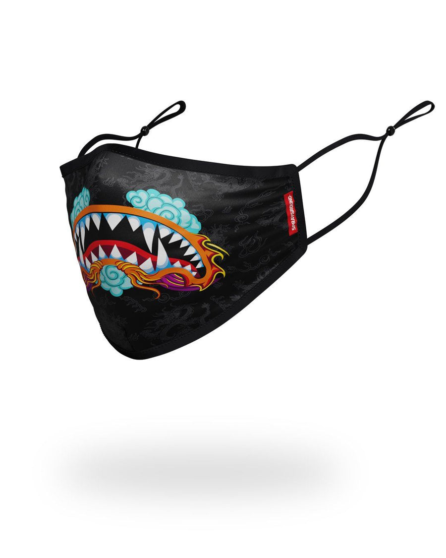 SPRAYGROUND- ADULT DRAGON SHARK FORM FITTING FACE MASK FASHION MASK
