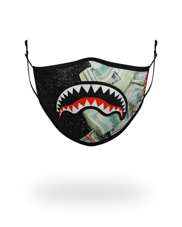 SPRAYGROUND- ADULT PARTY SHARK FORM FITTING FACE MASK FASHION MASK