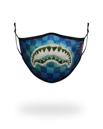 SPRAYGROUND- ADULT SHARK ISLAND FORM FITTING FACE MASK FASHION MASK