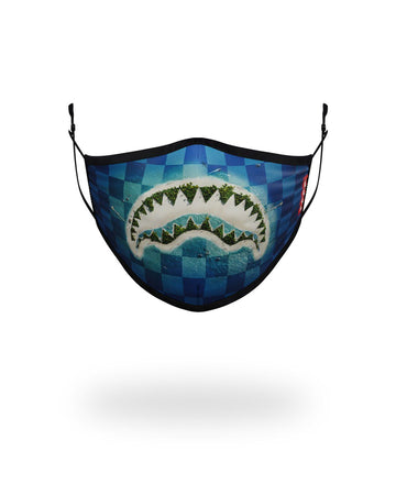SPRAYGROUND- KIDS FORM FITTING MASK: SHARK ISLAND FASHION MASK