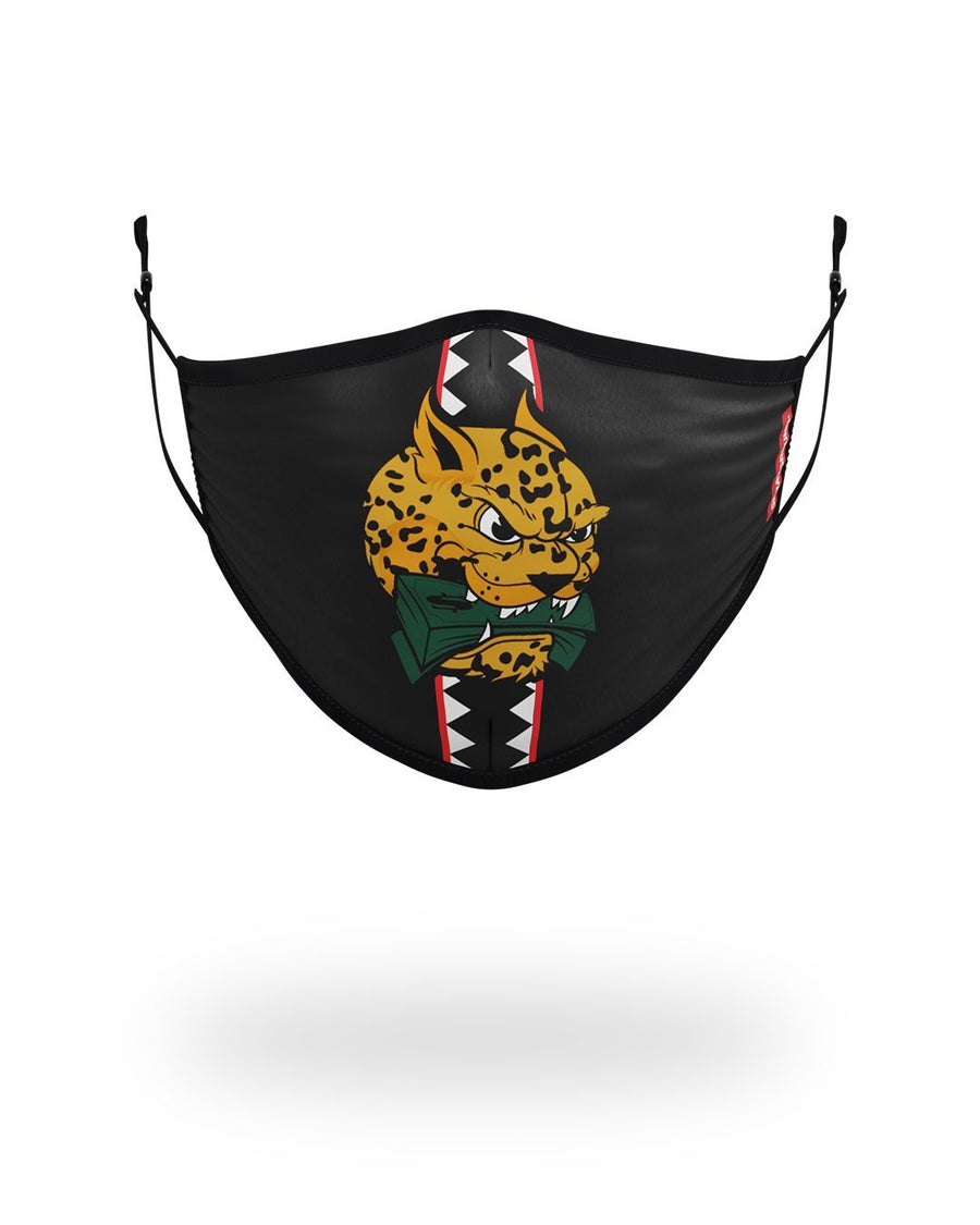 SPRAYGROUND- ADULT SPUCCI LEOPARD FORM FITTING FACE MASK FASHION MASK
