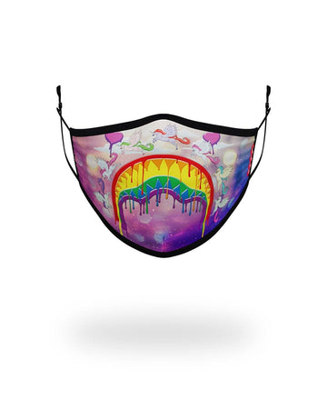SPRAYGROUND- KIDS FORM FITTING MASK: MELT THE RAINBOW FASHION MASK