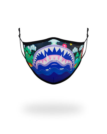 SPRAYGROUND- KIDS FORM FITTING MASK:  ASTRO BUBBLE FASHION MASK
