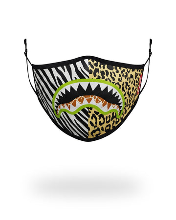 SPRAYGROUND- ADULT SAFARI SHARK FORM FITTING FACE MASK FASHION MASK