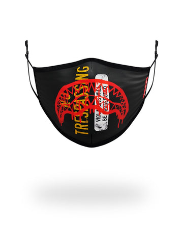 SPRAYGROUND- ADULT NO TRESSPASSING FORM FITTING FACE MASK FASHION MASK
