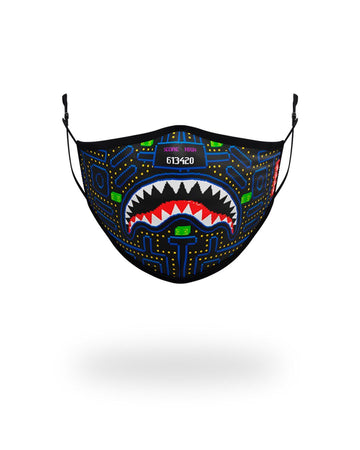 SPRAYGROUND- KIDS FORM FITTING MASK: ARCADE SHARK FASHION MASK