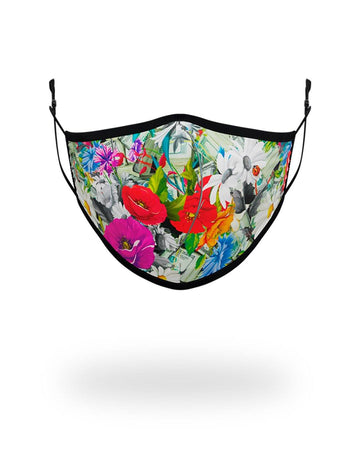 SPRAYGROUND- ADULT FLORAL MONEY FORM FITTING FACE MASK FASHION MASK