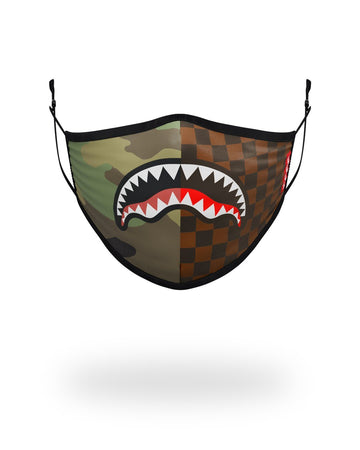 SPRAYGROUND- ADULT CHECKS & CAMO FORM FITTING FACE MASK FASHION MASK