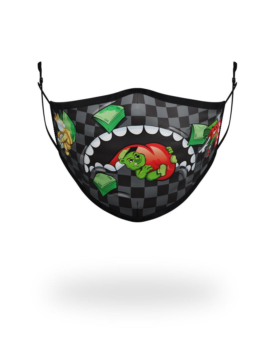 SPRAYGROUND- ADULT SHARK SQUAD FORM FITTING FACE MASK FASHION MASK