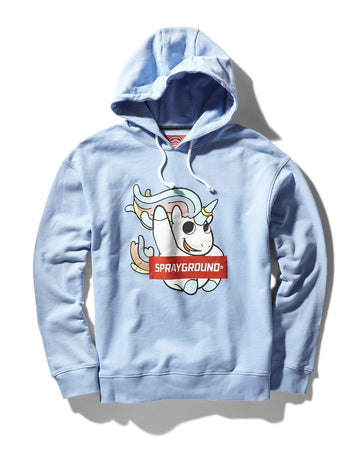 UNICORN FUN HOODY (LT BLUE)