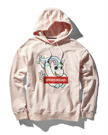 UNICORN FUN HOODY (LT PINK)