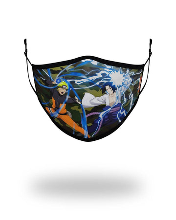 SPRAYGROUND- ADULT NARUTO VS SASUKE FORM FITTING FACE-COVERING FASHION MASK