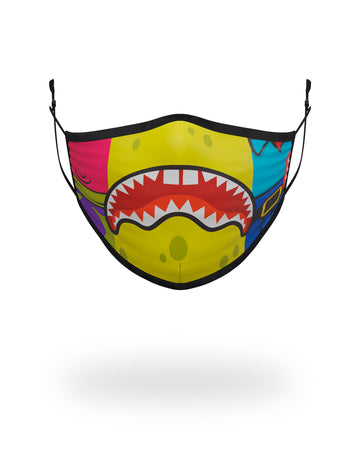 SPRAYGROUND- ADULT SPONGEBOB OG SHARK FORM FITTING FACE-COVERING FASHION MASK
