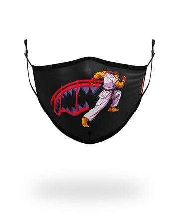 SPRAYGROUND- ADULT STREET FIGHTER RYU SHARK FORM FITTING FACE-COVERING FASHION MASK