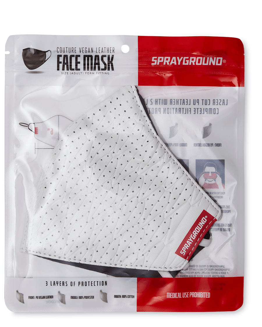 SHARKS OF THE WORLD VEGAN LEATHER FACE MASK
