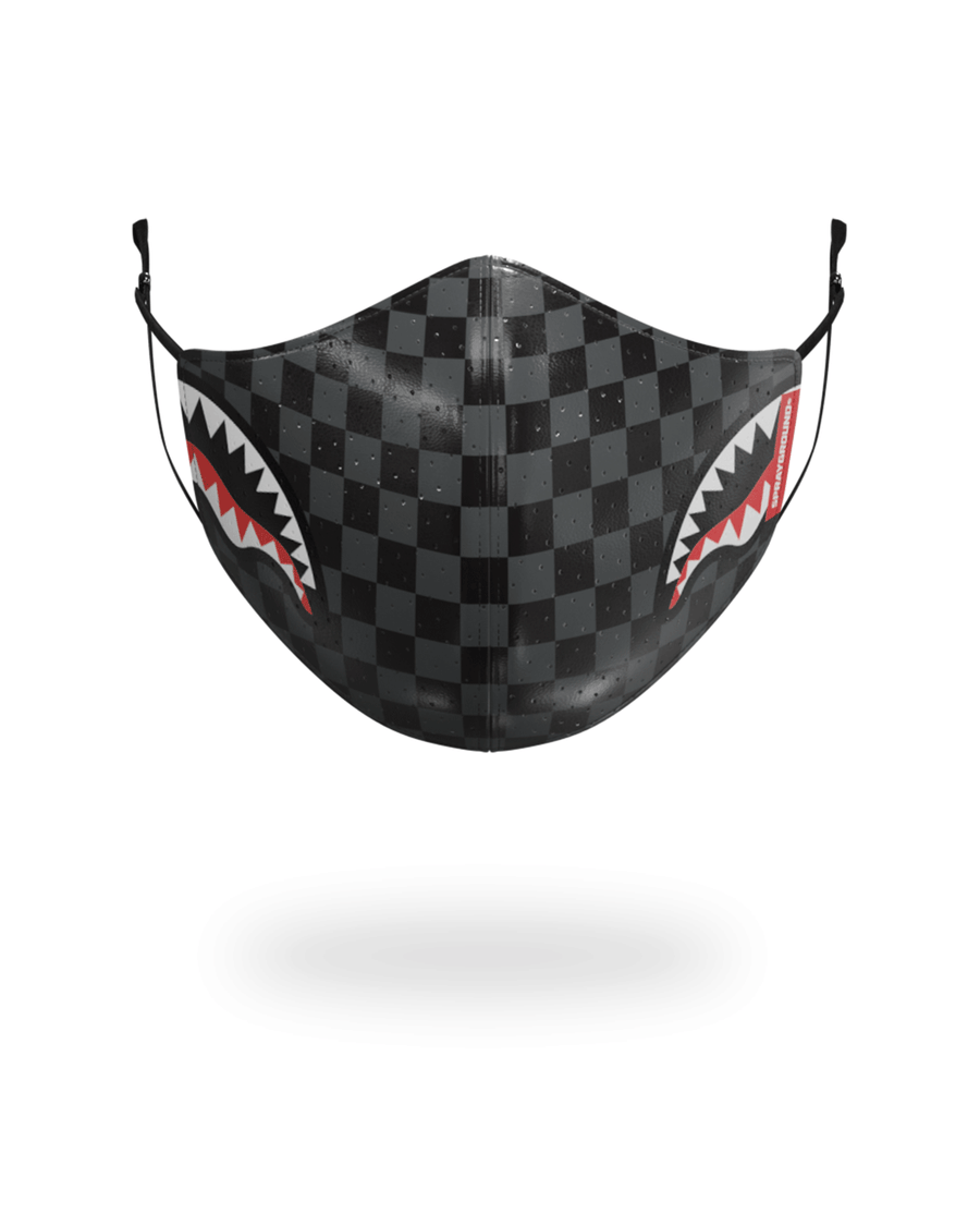 SHARKS IN PARIS (GRAY) VEGAN LEATHER FACE MASK