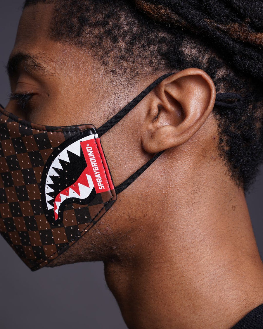 SHARKS IN PARIS VEGAN LEATHER FACE MASK