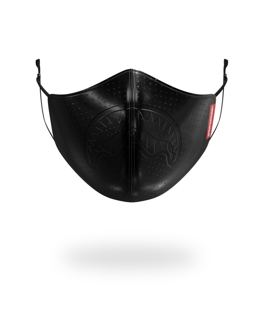 MIDNIGHT SHARK VEGAN LEATHER FACEMASK