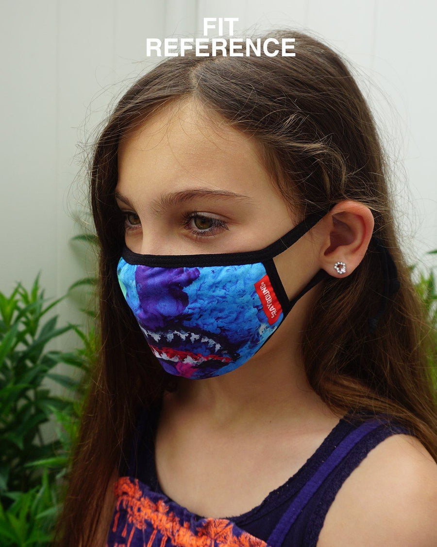 SPRAYGROUND- KIDS FORM FITTING MASK: COLOR DRIP FASHION MASK