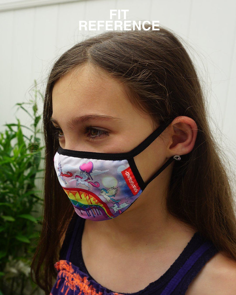 KIDS FORM FITTING MASK: SPUCCI LEOPARD