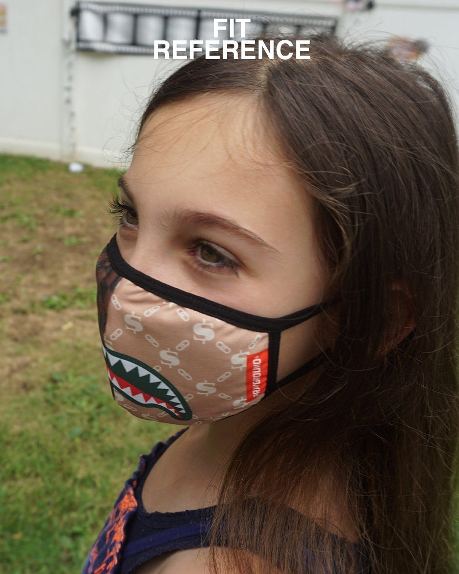 SPRAYGROUND- KIDS FORM FITTING MASK: CHECKS & CAMO FASHION MASK