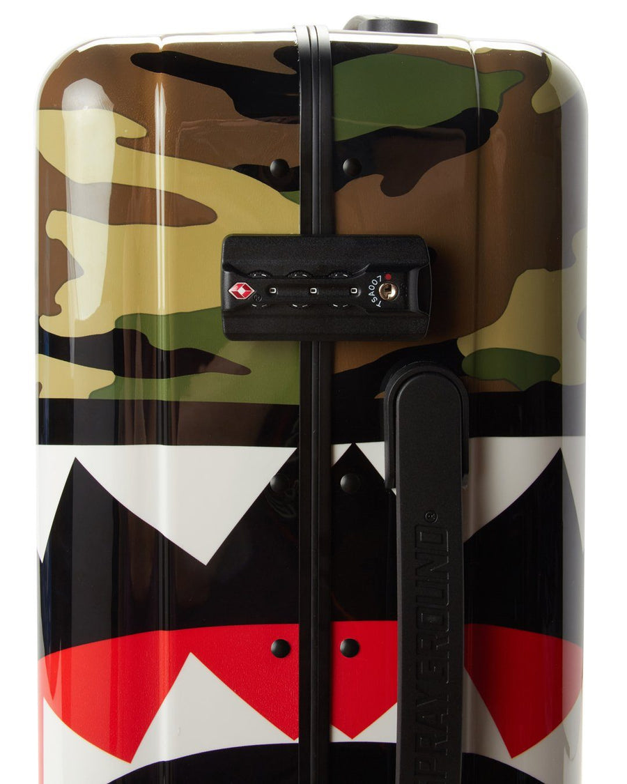 SPRAYGROUND- FULL-SIZE RED CARRY-ON CAMO LUGGAGE BUNDLE LUGGAGE