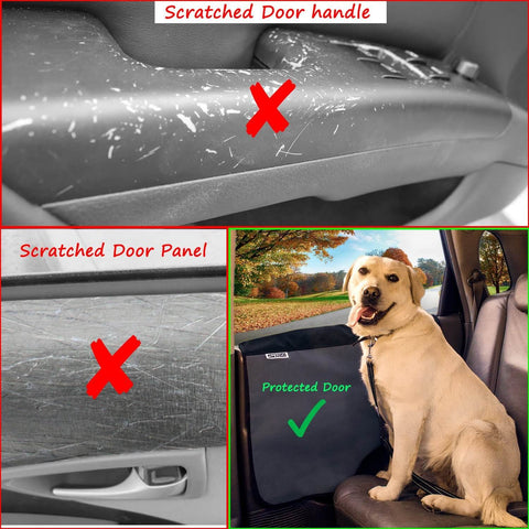 ... Pet Car Door Cover For Dogs   Set Of 2   Interior Protector And Guard  For ...