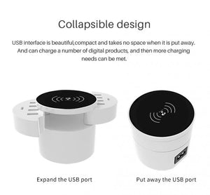 10 socket USB Wireless Phone Charger
