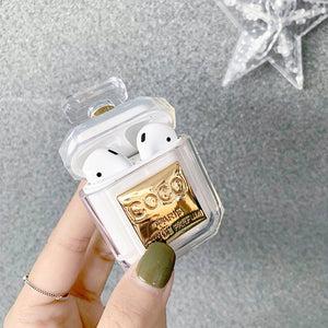 LUXURY CRYSTAL PERFUME BOTTLE APPLE AIRPODS PROTECTIVE CASE COVER