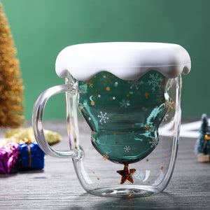 Double Layered Christmas Tree Coffee Mug