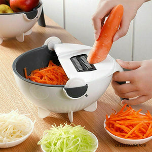 Magic Rotate The Vegetable Cutter With Drain Basket
