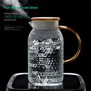 Glass Pitcher Pot Heat Resistant