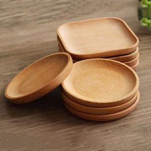Round /Square Shape Wood Plate Dishes f