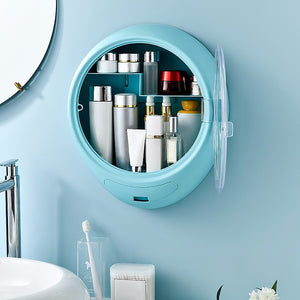 Wall Mounted Cosmetic Makeup Storage
