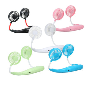 Neck Hanging Portable Duo Fans
