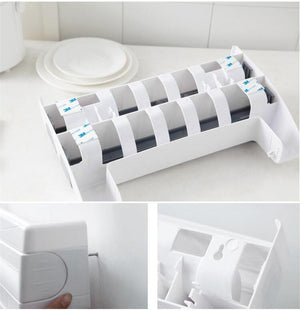 Wall-Mount 4-in-1 Towel and Plastic Wrap Foil Dispenser